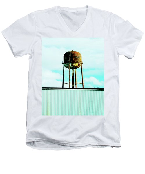 Men's V-Neck T-Shirt featuring the photograph Along Highway 61 by Lizi Beard-Ward