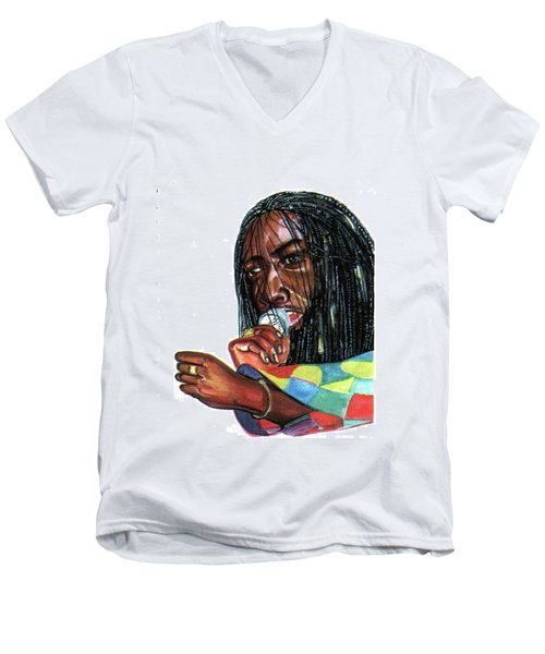 Alpha Blondy Men's V-Neck T-Shirt