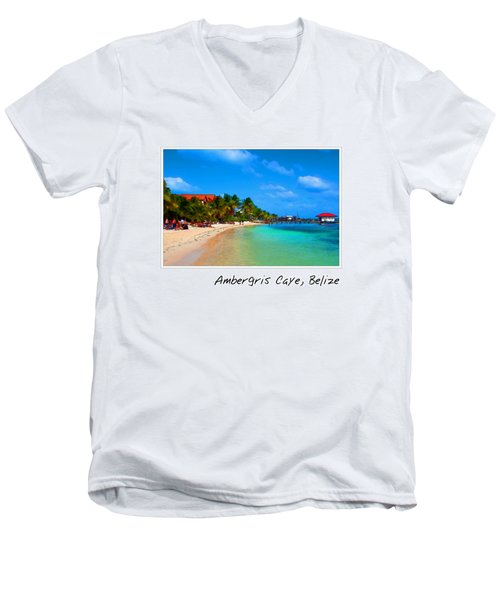 Ambergris Caye Belize Men's V-Neck T-Shirt