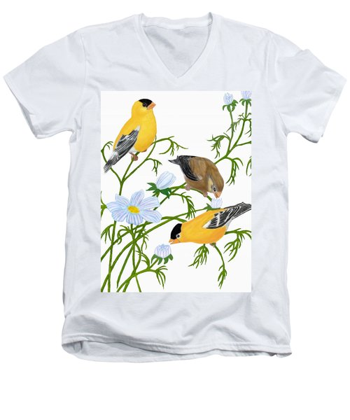 American Goldfinch Men's V-Neck T-Shirt
