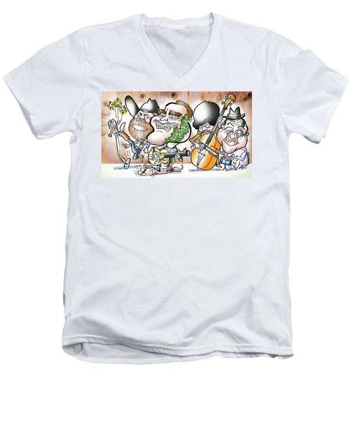 Arnold And The Terminators Men's V-Neck T-Shirt