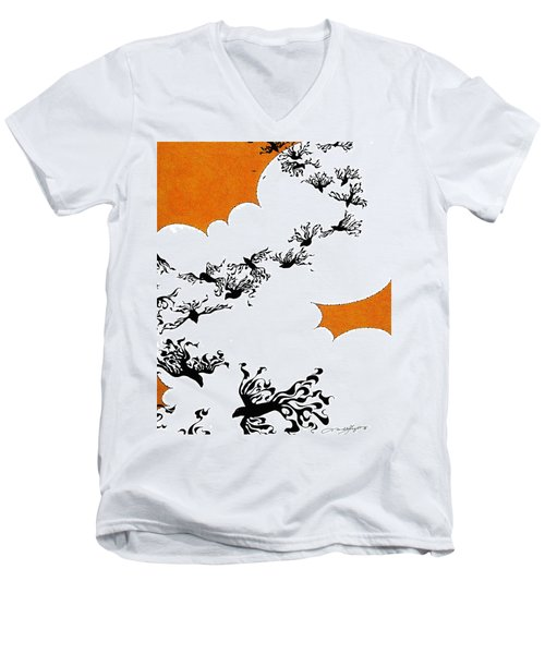 As The Crows Fly Men's V-Neck T-Shirt