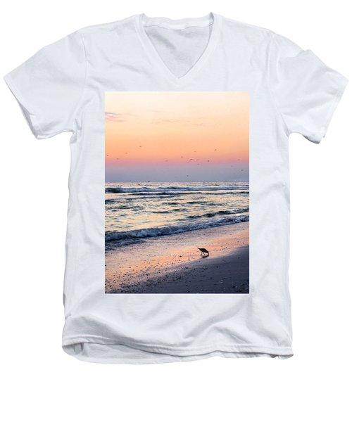 At Sunset Men's V-Neck T-Shirt