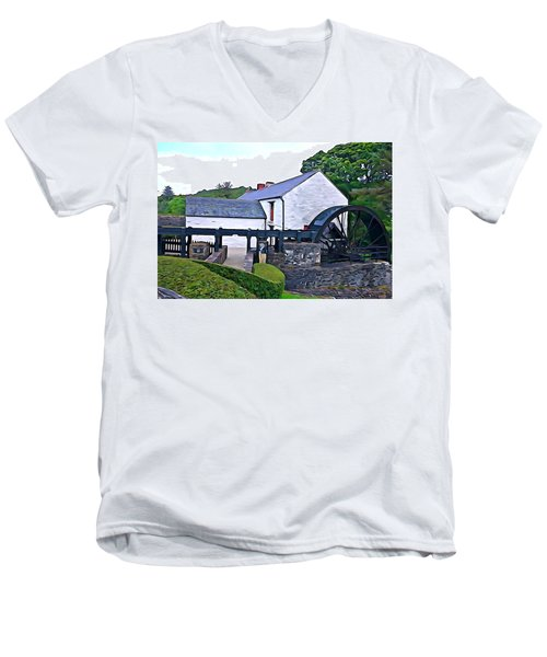 Men's V-Neck T-Shirt featuring the photograph Auld Mill  by Charlie and Norma Brock