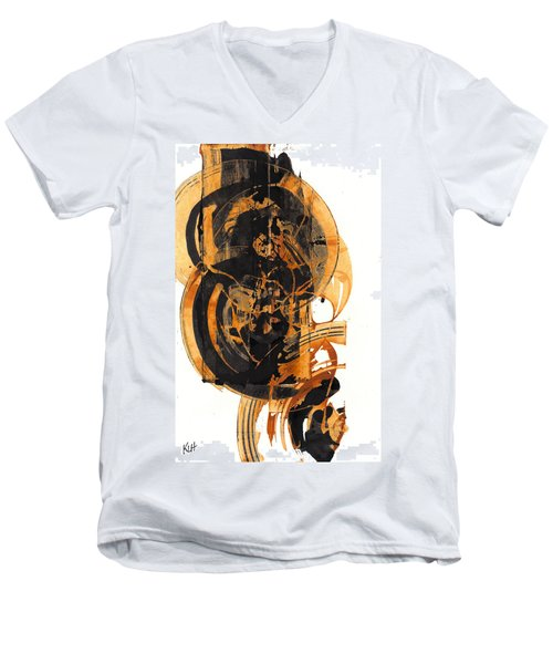 Men's V-Neck T-Shirt featuring the painting Austere's Moment O Glory 113.122210 by Kris Haas