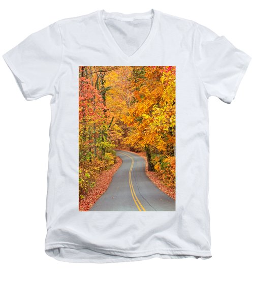 Autumn Drive Signal Mountain Men's V-Neck T-Shirt