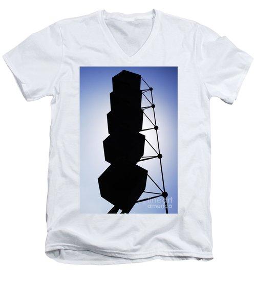 Backlight Structure Men's V-Neck T-Shirt