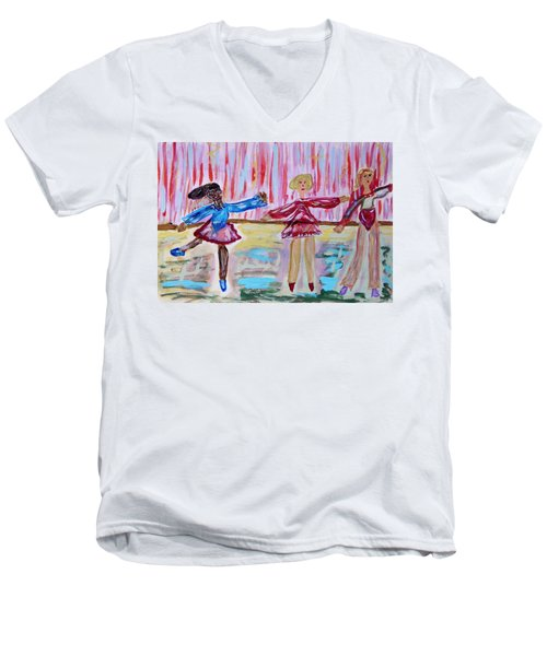 Ballerina Class Men's V-Neck T-Shirt