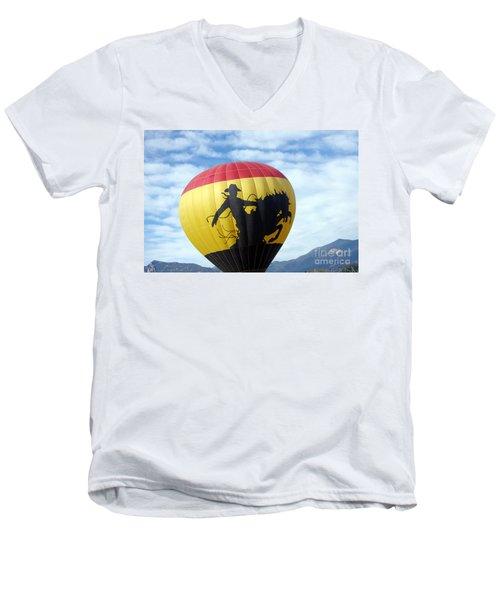 Men's V-Neck T-Shirt featuring the photograph Balloon 24 by Deniece Platt