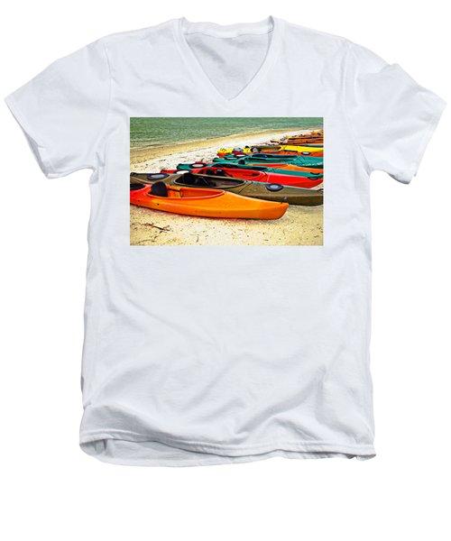 Beach Kayaks Men's V-Neck T-Shirt