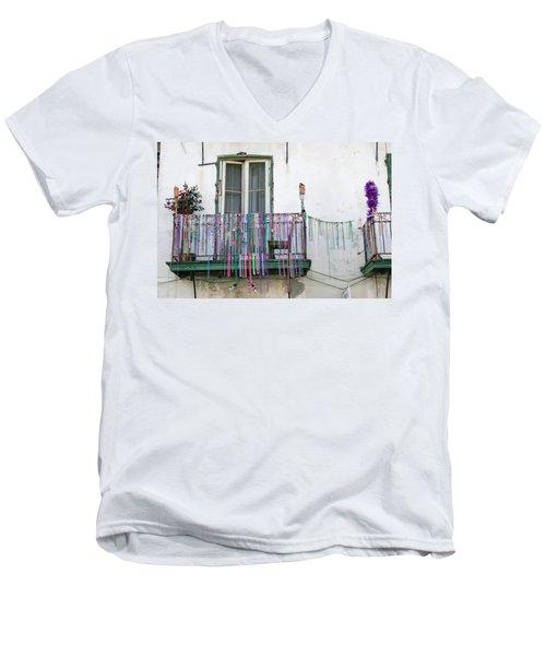 Bead The Porch Men's V-Neck T-Shirt by KG Thienemann