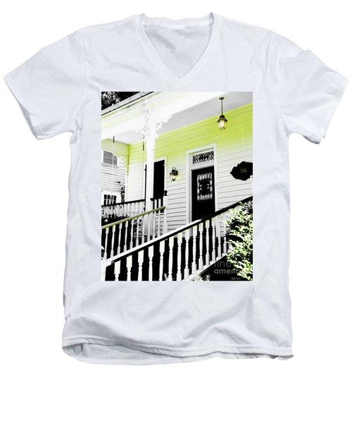 Beauregard Town Baton Rouge Men's V-Neck T-Shirt