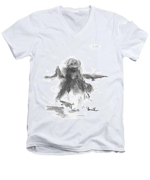 Being Happy Men's V-Neck T-Shirt