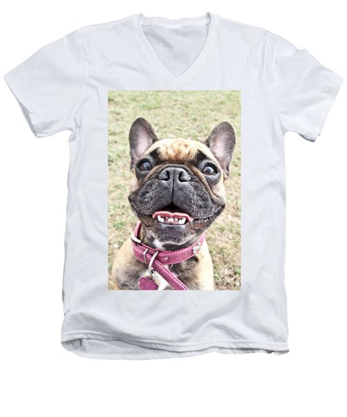 Best Friend Men's V-Neck T-Shirt by Jeannette Hunt