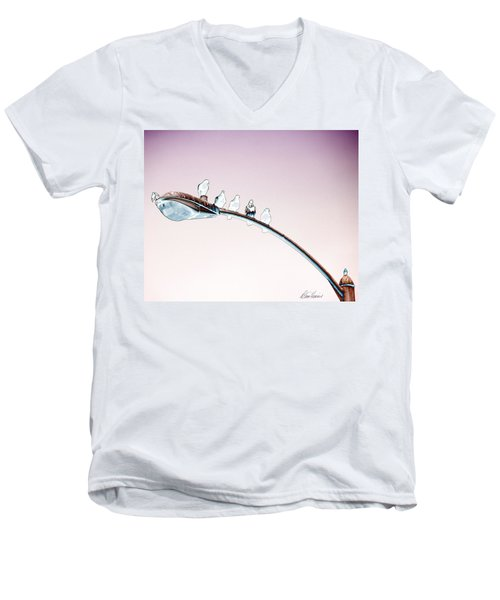 Birds On A Streetlight Men's V-Neck T-Shirt