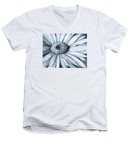 Black White Gerber Men's V-Neck T-Shirt