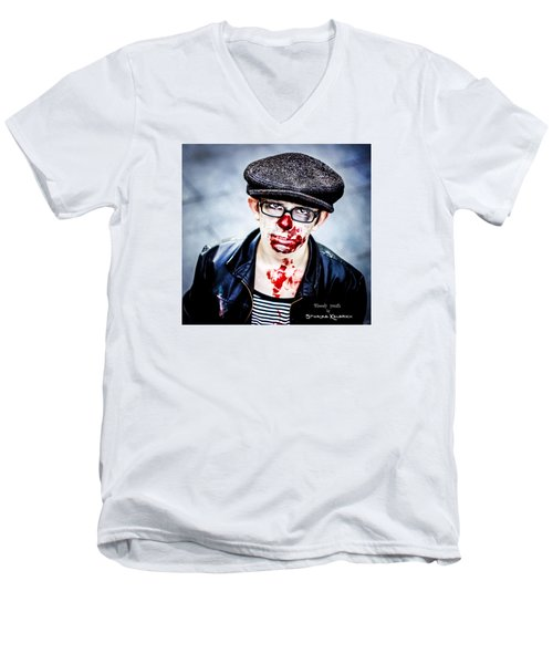 Men's V-Neck T-Shirt featuring the photograph Bloody Youth by Stwayne Keubrick