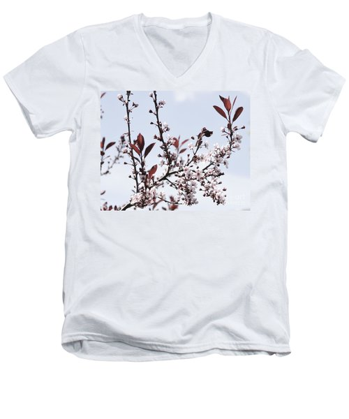 Blossoms In Time Men's V-Neck T-Shirt