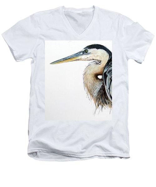 Blue Heron Study Men's V-Neck T-Shirt