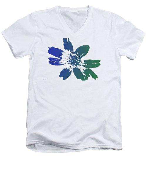 Blue In Bloom Men's V-Neck T-Shirt