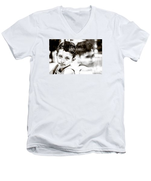 Men's V-Neck T-Shirt featuring the photograph Blurred Thoughts by Stwayne Keubrick