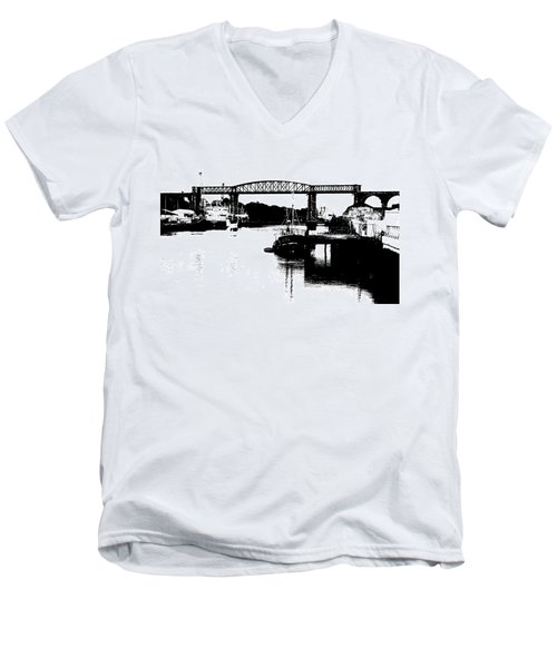Men's V-Neck T-Shirt featuring the photograph Bridge On The Boyne by Charlie and Norma Brock