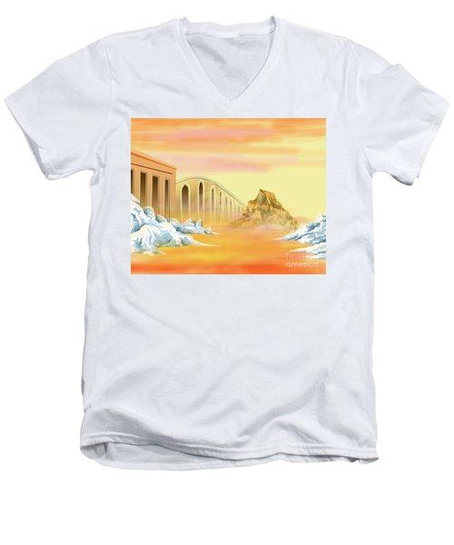 Bridges Of Parting Men's V-Neck T-Shirt