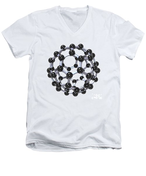 Buckminsterfullerene Or Buckyball C60 18 Men's V-Neck T-Shirt