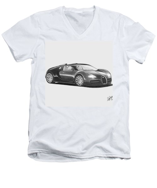 Bugatti Veyron Eb Men's V-Neck T-Shirt