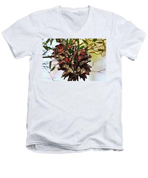 Butterfly Bouquet Men's V-Neck T-Shirt