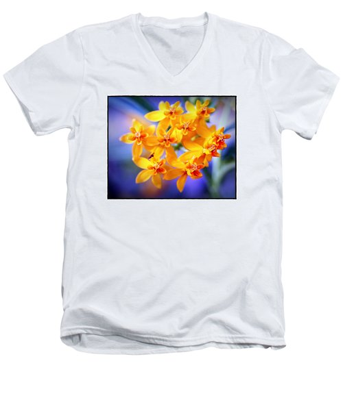 Butterfly Weed Men's V-Neck T-Shirt by Judi Bagwell