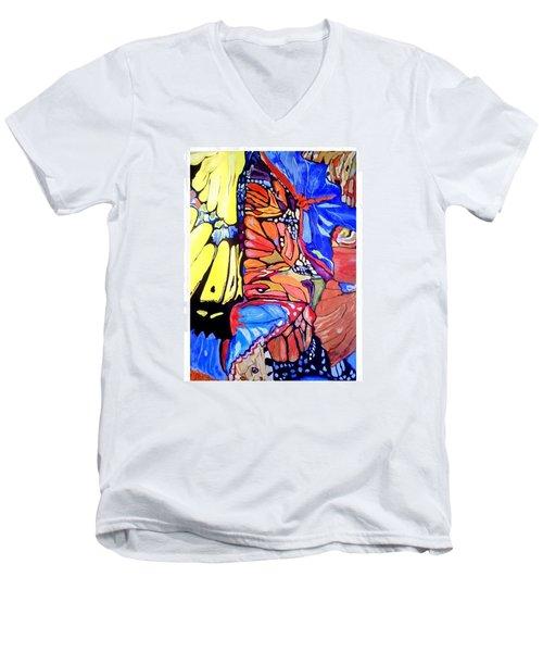 Butterfly Wings Men's V-Neck T-Shirt by Sandra Lira