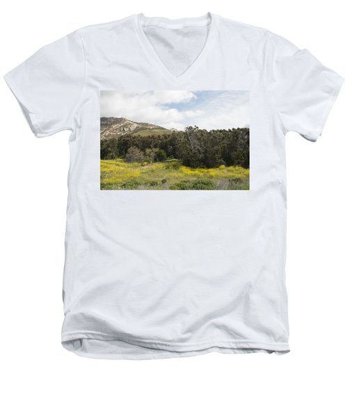 California Hillside View IIi Men's V-Neck T-Shirt