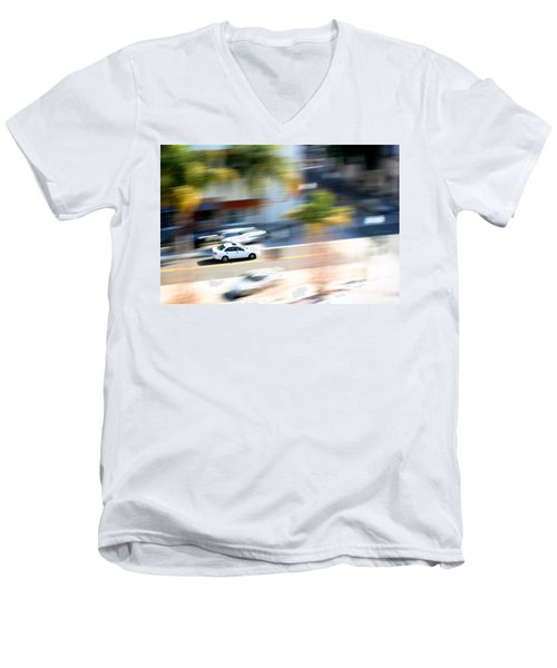 Car In Motion Men's V-Neck T-Shirt