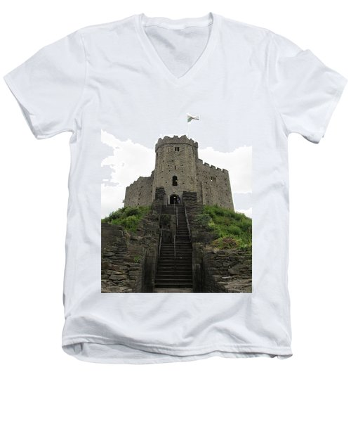 Cardiff Castle Men's V-Neck T-Shirt