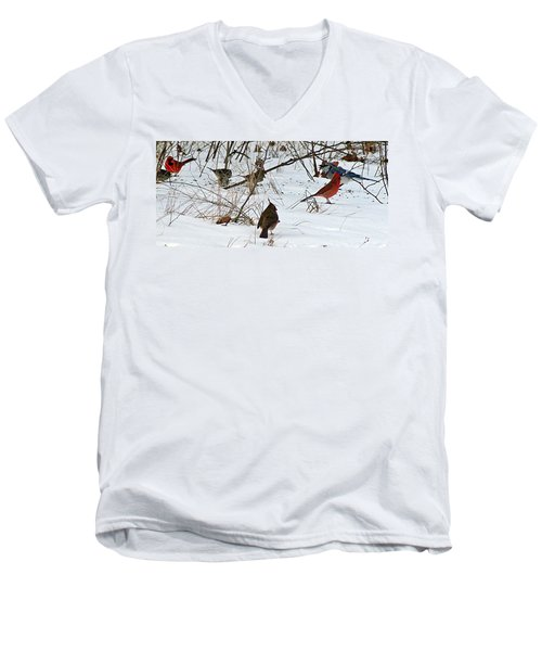 Christmas Feast Men's V-Neck T-Shirt by Joe Faherty