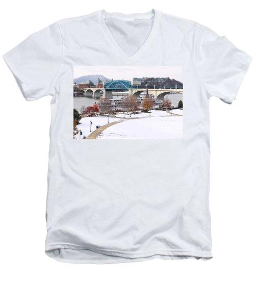Christmas Snow Men's V-Neck T-Shirt