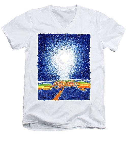 Christmas Star Men's V-Neck T-Shirt