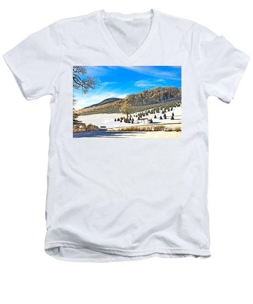 Christmas Tree Farm Men's V-Neck T-Shirt