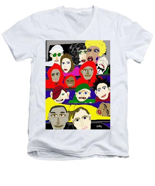 City Park Bus- New Orleans Men's V-Neck T-Shirt