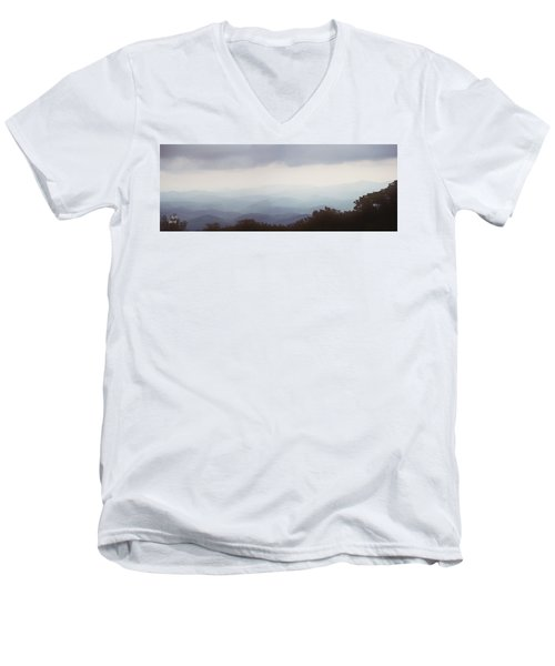 Clouds In The Mountains Men's V-Neck T-Shirt