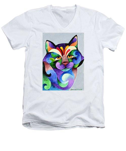 Color Me Smug Men's V-Neck T-Shirt