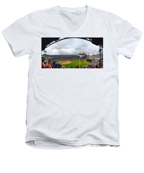 Comerica Park Home Of The Detroit Tigers Men's V-Neck T-Shirt
