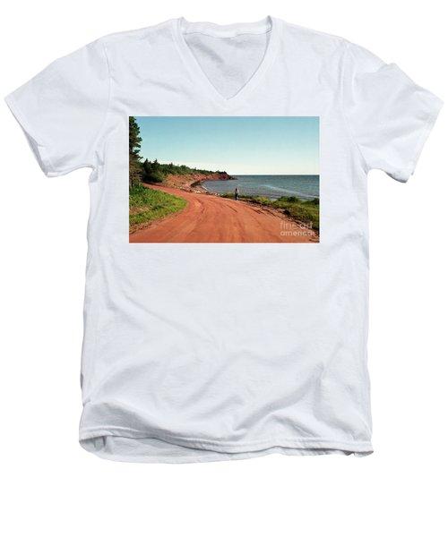 Contemplation Men's V-Neck T-Shirt by Kathy McClure