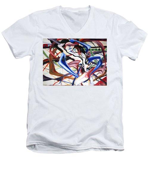 Cosmopolitan Men's V-Neck T-Shirt by Sheridan Furrer