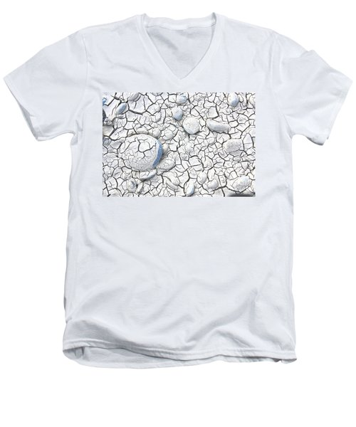 Men's V-Neck T-Shirt featuring the photograph Cracked Earth by Nareeta Martin