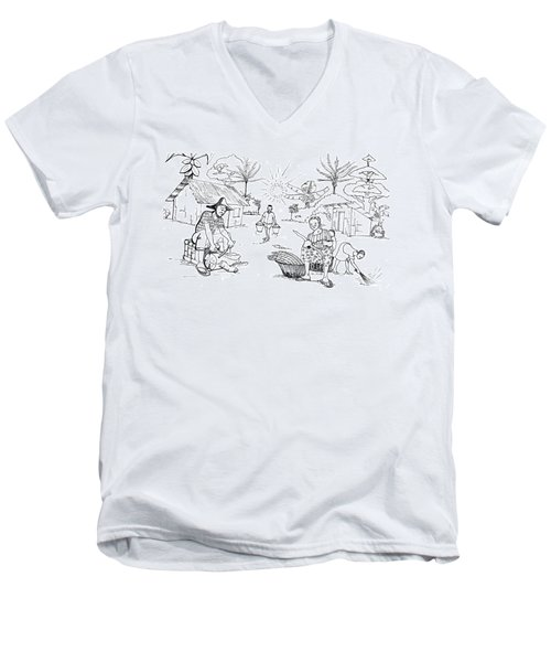 Daily Life In South And Center Cameroon 03 Men's V-Neck T-Shirt