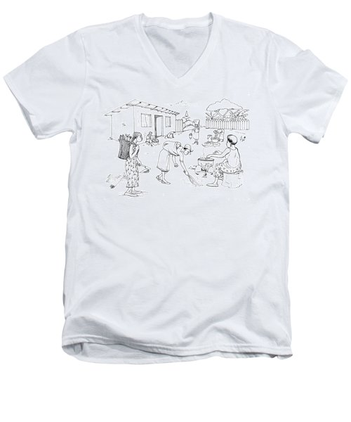 Daily Life In South And Center Cameroon 10 Men's V-Neck T-Shirt