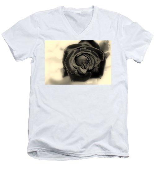 Men's V-Neck T-Shirt featuring the photograph Dark Beauty by Kay Novy
