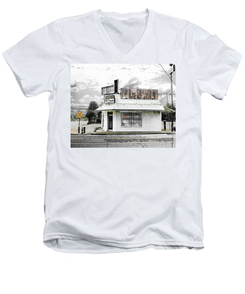 Men's V-Neck T-Shirt featuring the photograph Dead End by Lizi Beard-Ward
